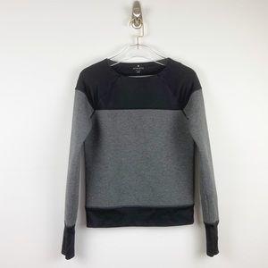 Athleta Black & Grey Crewneck Sweatshirt